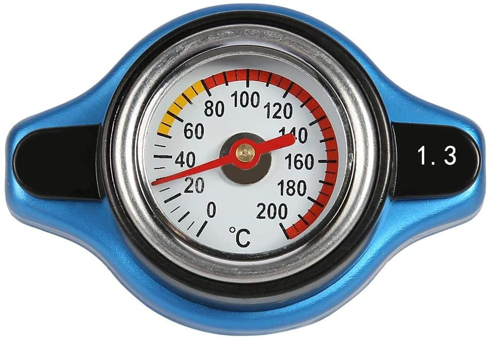 Radiator cap with universal water temperature meter (1.3 bar)